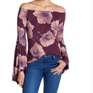 Free People Birds Of Paradise Off Shoulder Top